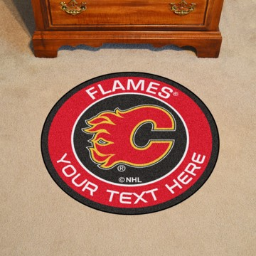 Picture of Calgary Flames Personalized Roundel Mat