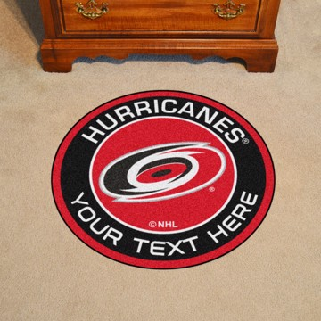 Picture of Carolina Hurricanes Personalized Roundel Mat