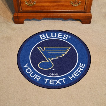 Picture of NHL - St. Louis Blues Personalized Roundel Mat