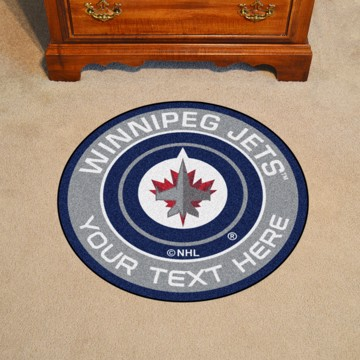 Picture of NHL - Winnipeg Jets Personalized Roundel Mat