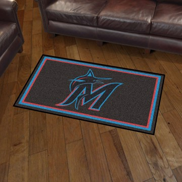 Picture of MLB - Miami Marlins 3'x5' Plush Rug