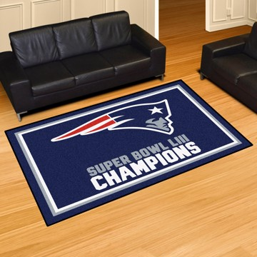 Picture of NFL - New England Patriots Super Bowl LIII Champions 5x8 Plush Rug