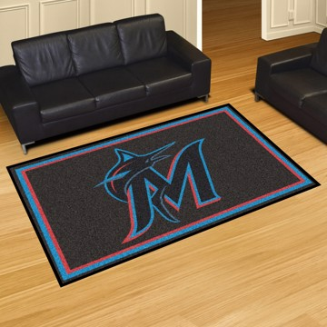 Picture of MLB - Miami Marlins 5'x8' Plush Rug