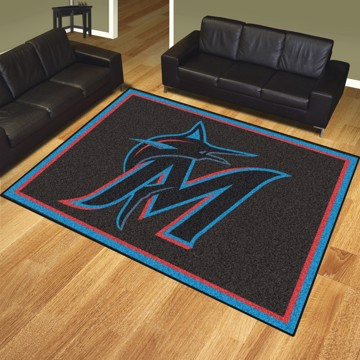 Picture of MLB - Miami Marlins 8'x10' Plush Rug