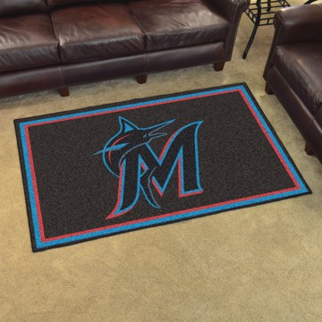 Picture of MLB - Miami Marlins 4'x6' Plush Rug