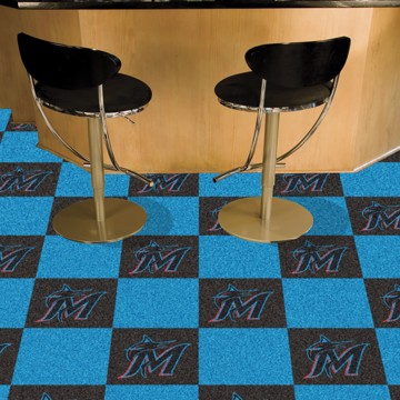 Picture of MLB - Miami Marlins Team Carpet Tiles