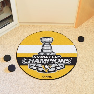 Picture of NHL - Pittsburgh Penguins 2017 Stanley Cup Champions Hockey Puck Mat