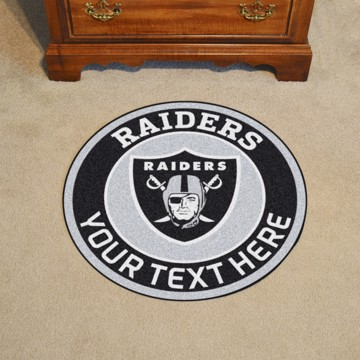 Picture of Oakland Raiders Personalized Roundel Mat