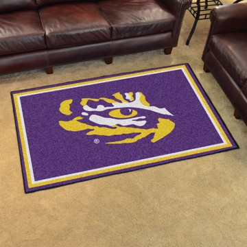 Picture of LSU 4'x6' Plush Rug
