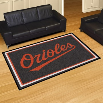 Picture of MLB - Baltimore Orioles 5'x8' Plush Rug