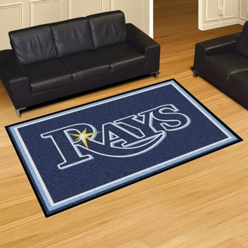 Picture of MLB - Tampa Bay Rays 5'x8' Plush Rug