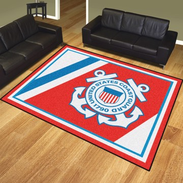 Picture of U.S. Coast Guard 8'x10' Plush Rug
