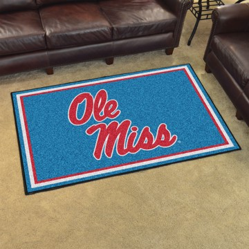 Picture of Ole Miss 4'x6' Plush Rug