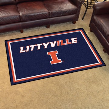 Picture of Illinois 4'x6' Plush Rug - Littyville