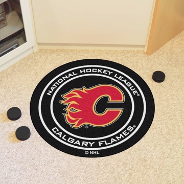 Picture of NHL - Calgary Flames Puck Mat