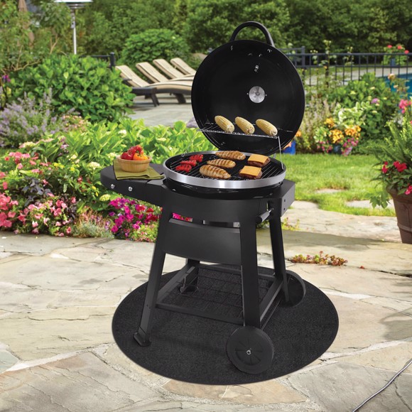 Picture of Black Round Grill Mat - Large