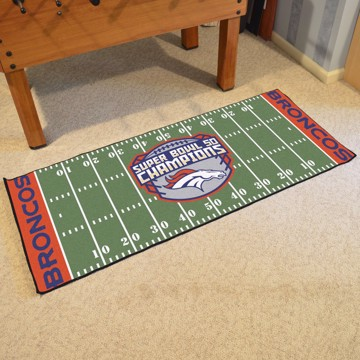 Picture of NFL - Denver Broncos Super Bowl L Champions Football Field Runner