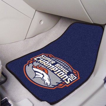 Picture of NFL - Denver Broncos Super Bowl L Champions Carpet Car Mat Set
