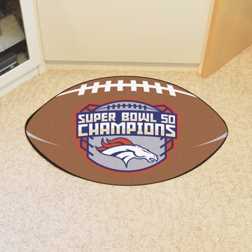 Picture of NFL - Denver Broncos Super Bowl L Champions Football Mat