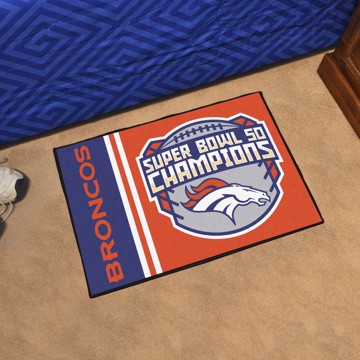 Picture of NFL - Denver Broncos Super Bowl L Champions Starter Mat