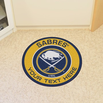 Picture of Buffalo Sabres Personalized Roundel Mat