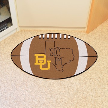 Picture of Baylor Southern Style Football Mat Rug