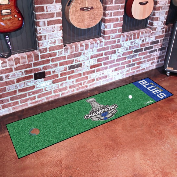 Picture of NHL - St. Louis Blues 2019 Stanley Cup Champions Putting Green Mat