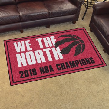 Picture of NBA - Toronto Raptors 2019 NBA Finals Champions 5x8 Plush Rug