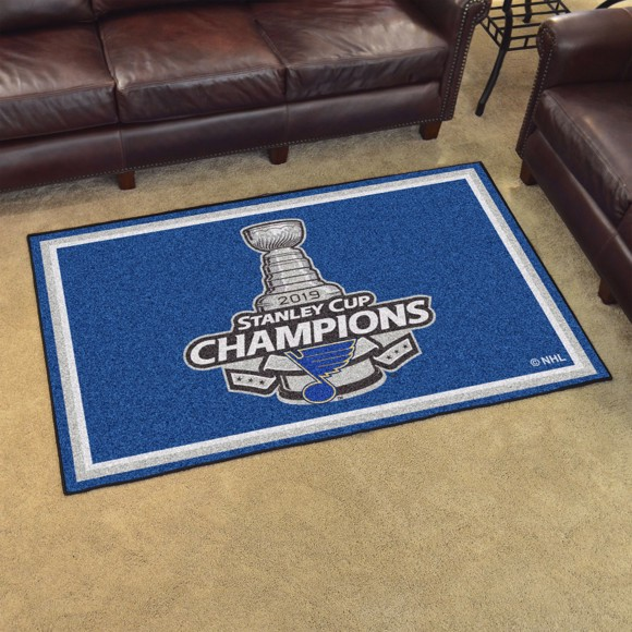 Picture of NHL - St. Louis Blues 2019 Stanley Cup Champions 5x8 Plush Rug