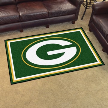 Picture of NFL - Green Bay Packers 4'x6' Plush Rug