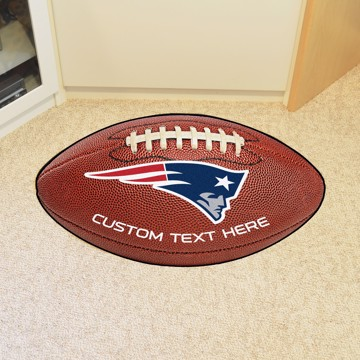 Picture of New England Patriots Personalized Football Mat