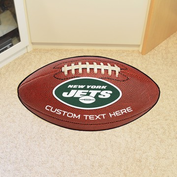 Picture of New York Jets Personalized Football Mat