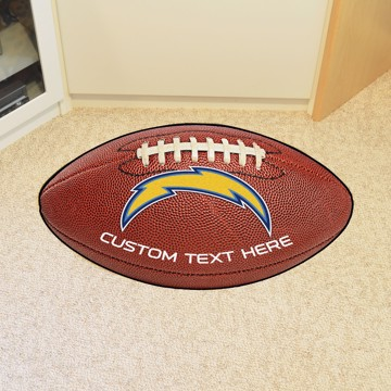 Picture of Los Angeles Chargers Personalized Football Mat