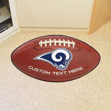 Picture of Los Angeles Rams Personalized Football Mat