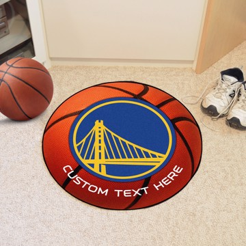 Picture of Golden State Warriors Personalized Basketball Mat