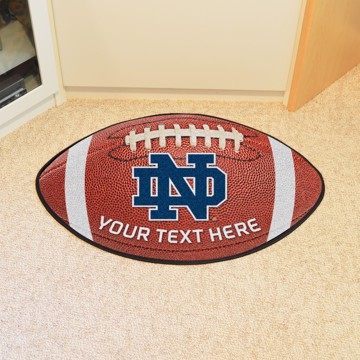 Picture of Personalized Notre Dame Football Mat