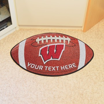 Picture of Personalized University of Wisconsin Football Mat