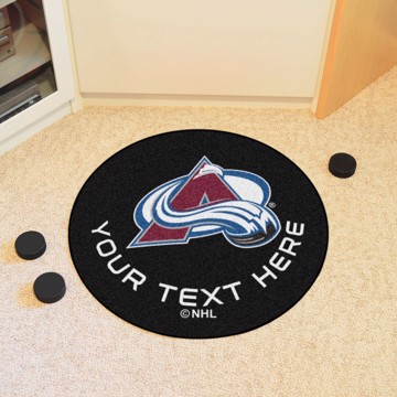 Picture of Columbus Blue Jackets Personalized Hockey Puck Mat