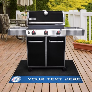 Picture of Philadelphia 76ers Personalized Grill Mat