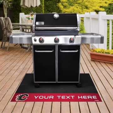Picture of Calgary Flames Personalized Grill Mat