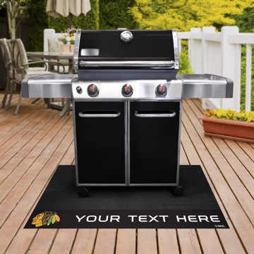 Picture of Chicago Blackhawks Personalized Grill Mat