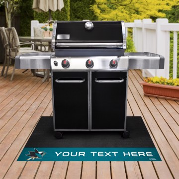 Picture of San Jose Sharks Personalized Grill Mat
