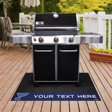 Picture of St. Louis Blues Personalized Grill Mat
