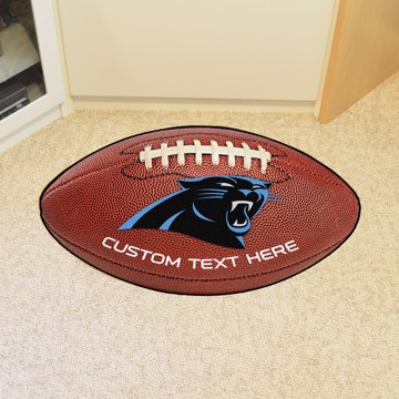 Picture of Carolina Panthers Personalized Football Mat