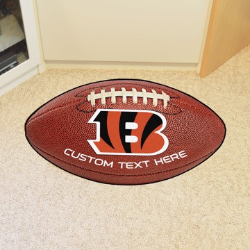 Picture of Cincinnati Bengals Personalized Football Mat
