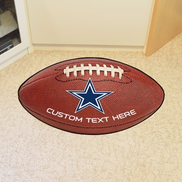 Picture of Dallas Cowboys Personalized Football Mat