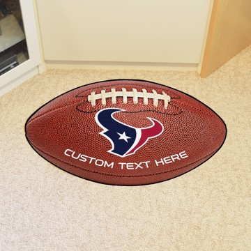 Picture of Houston Texans Personalized Football Mat