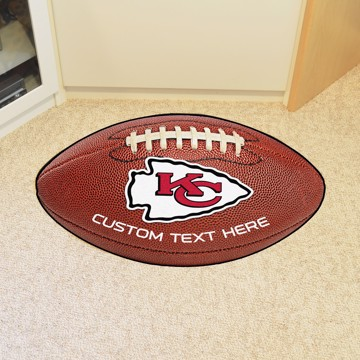 Picture of Kansas City Chiefs Personalized Football Mat