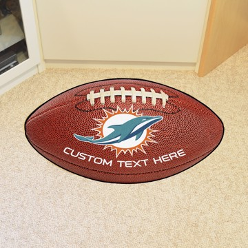 Picture of Miami Dolphins Personalized Football Mat