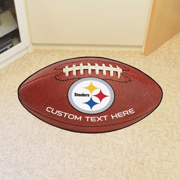 Picture of Pittsburgh Steelers Personalized Football Mat